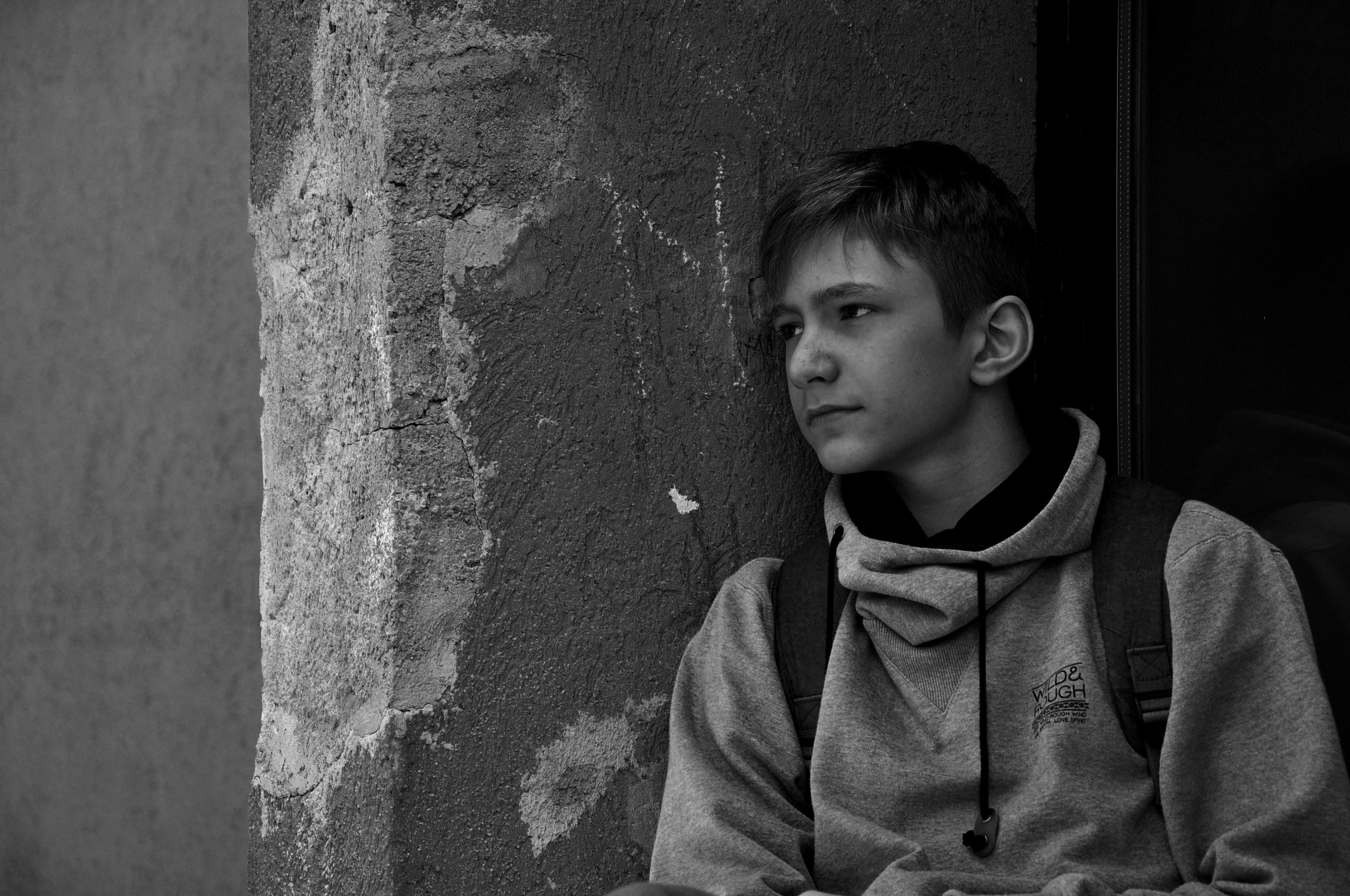Portrait black & white photography.