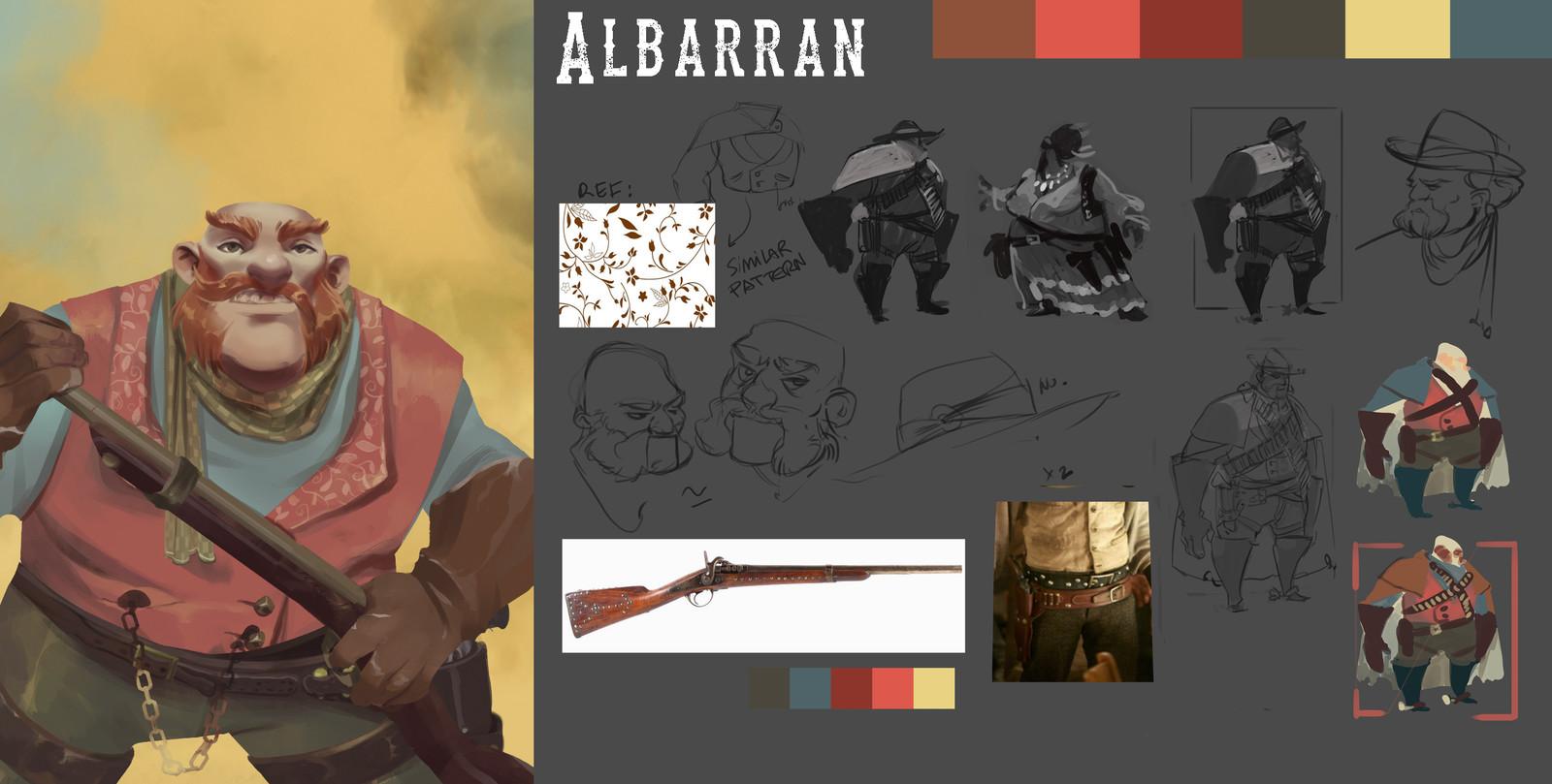 Part of the process followed to design Albarrán.