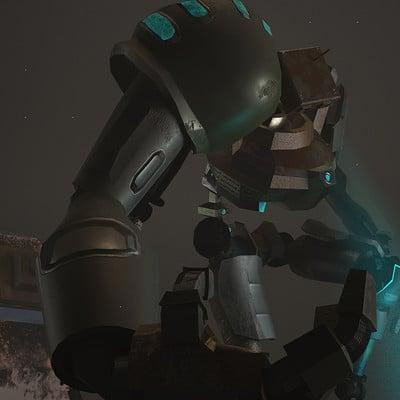 Emir hamitouche robot render crouching