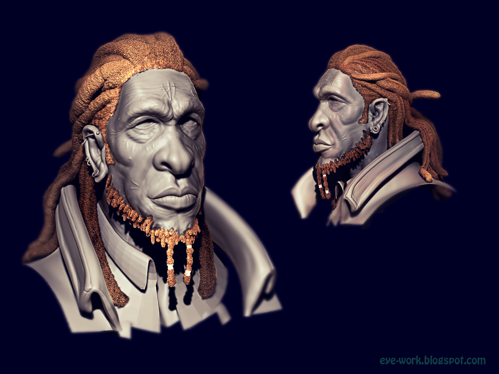 Was trying to make dreads in Zbrush