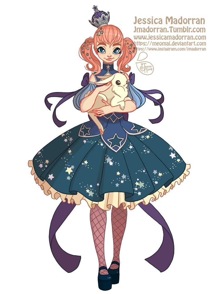 Jessica madorran character design princess bunny 2018 artstation