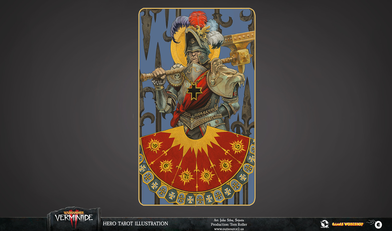 We imagined the Hero card as a piece of medieval propaganda - something the morally dubious Emperor would have issued to promote himself as a force of good.
