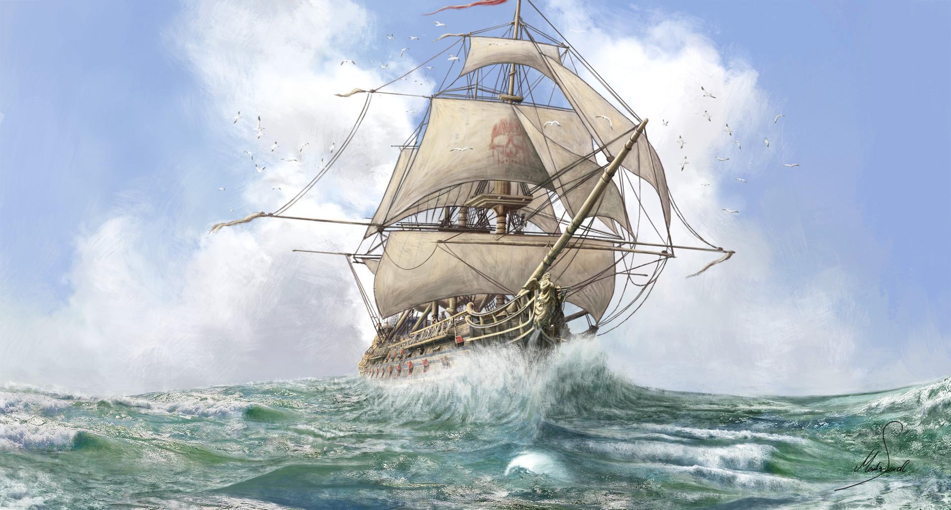 Martin seidl fancy pirate ship mindre artstation
