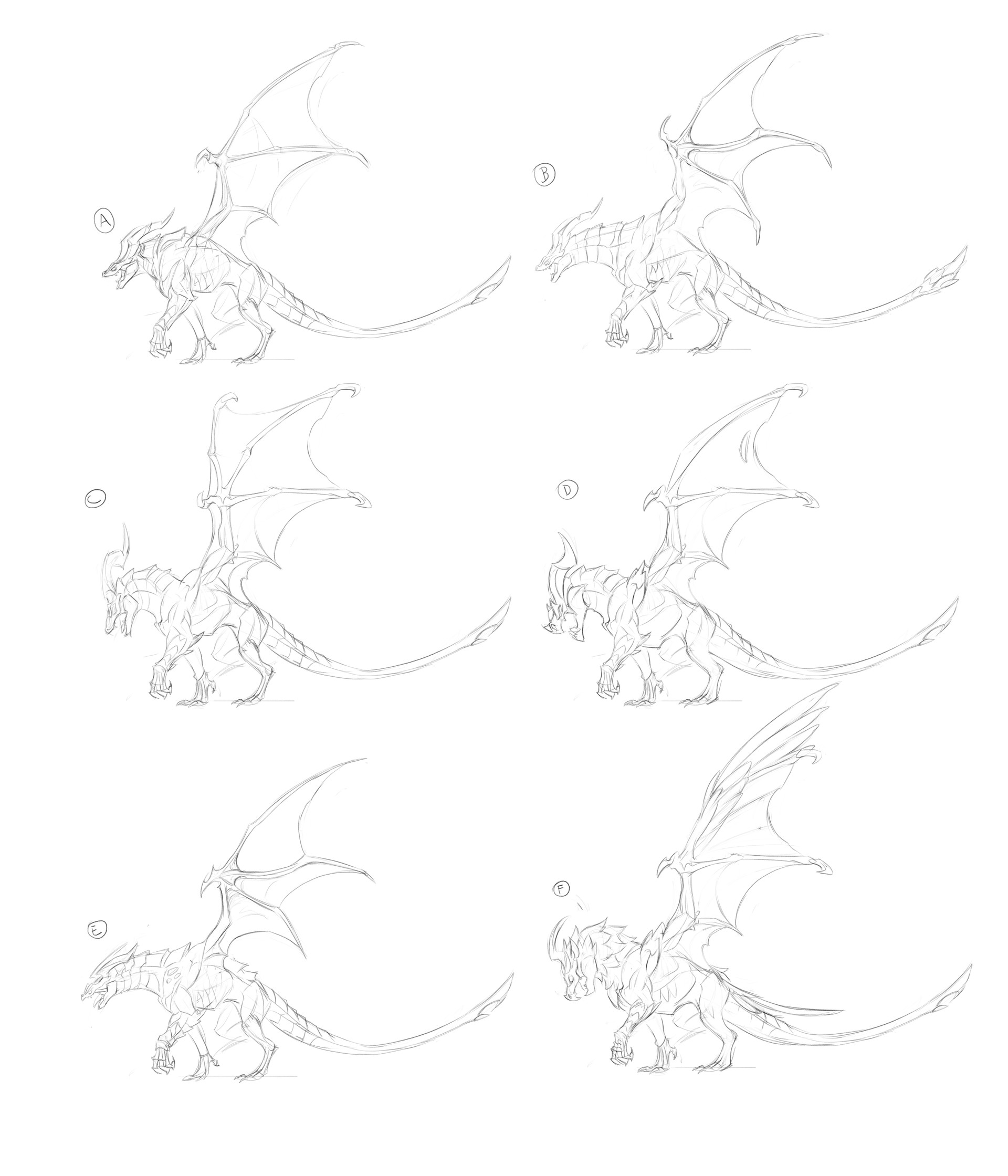 Joao henrique pacheco dragon sketch fab wip