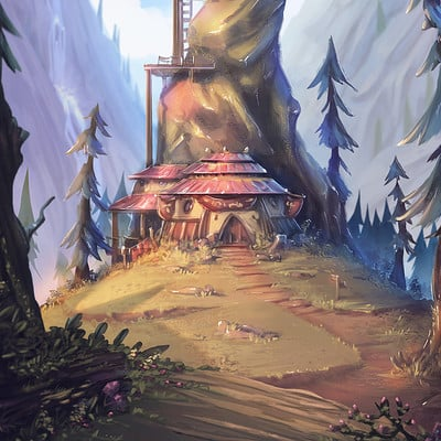 Thiago baltar thiago baltar illustracao concept art visdev visual development 2d art game environment cenario ilustracao landscape photoshop wacom