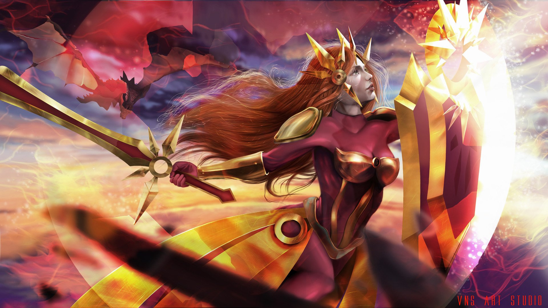 Artstation League Of Legends Leona Wallpaper Venesz David