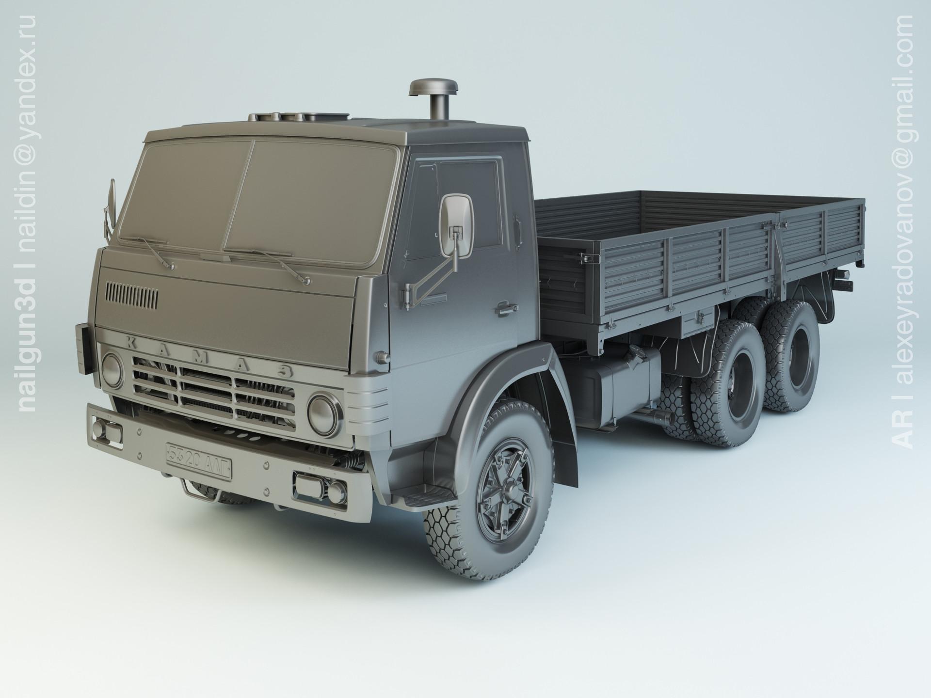 Nail khusnutdinov alg 024 002 kamaz 5320 modelling 0