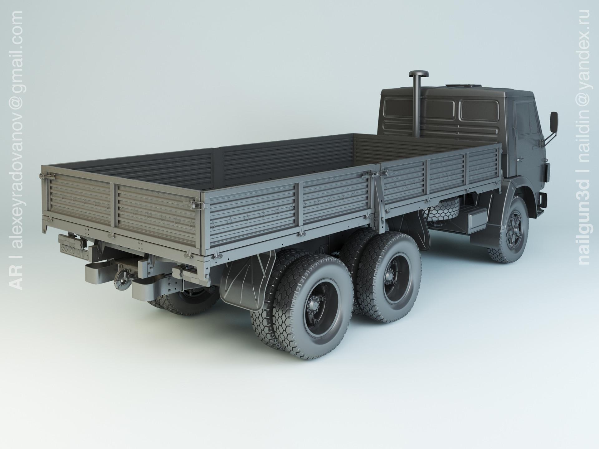 Nail khusnutdinov alg 024 002 kamaz 5320 modelling 1