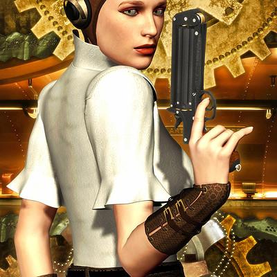 Luca oleastri steampunk girl 1