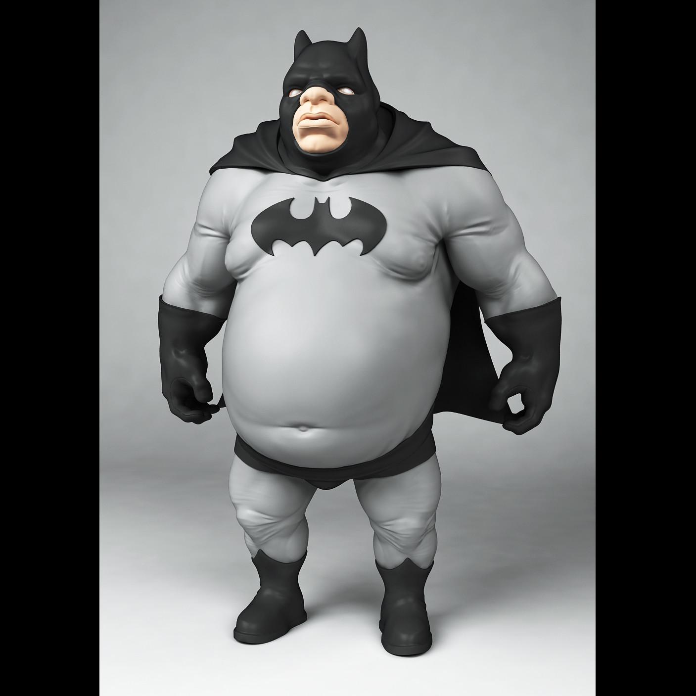 Жирный бэтмен картинки