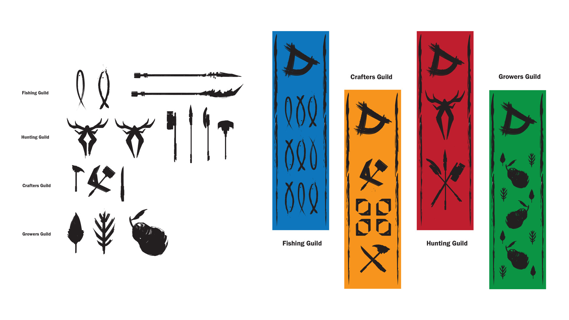 Some concepts for the Guild Flags and symbols
