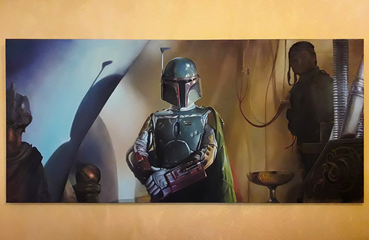 Pablo olivera boba fett oil painting canvas 05