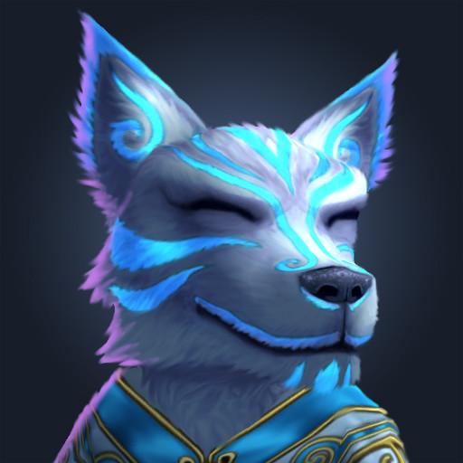 Cordelia wolf kitsune portrait