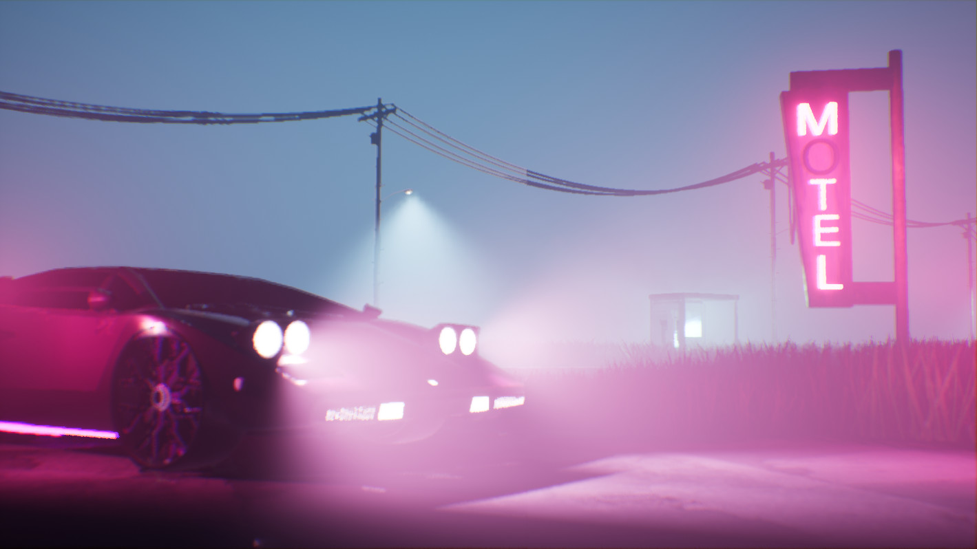 Progress pic #3. This is where I added the fog and started to play with volumetric lights and shadows. This was my favorite part of the whole project ! I had a blast with the volumetric lights !
