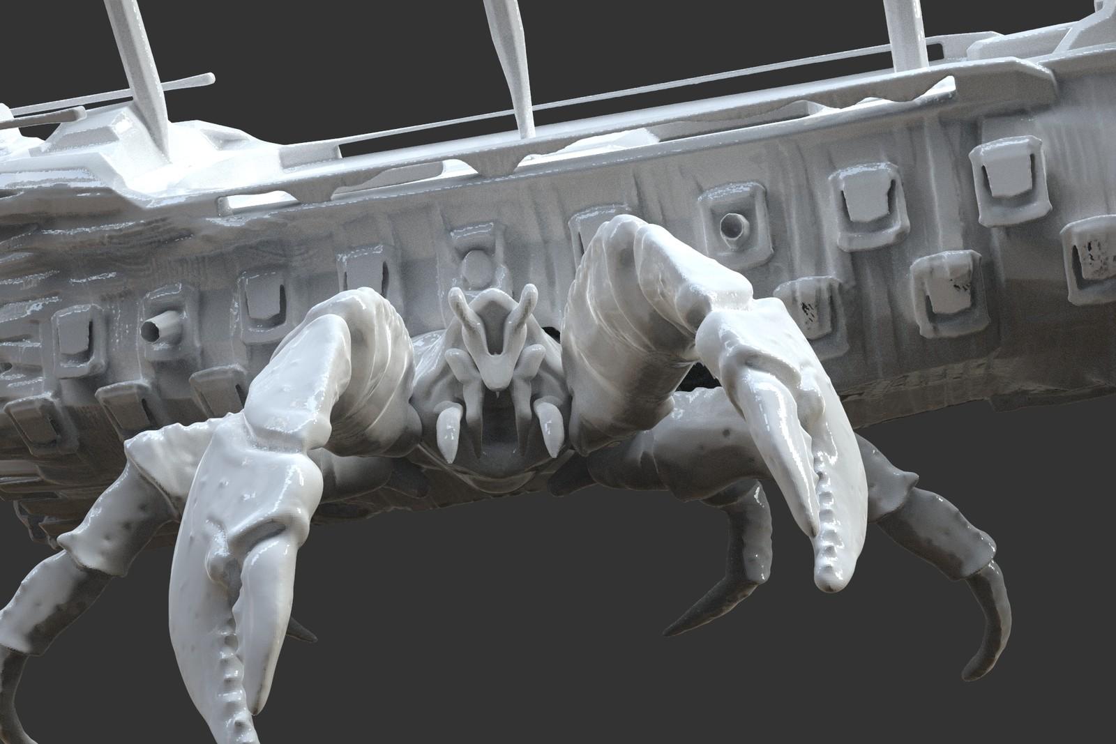 Zbrush Keyshot render of Crabby