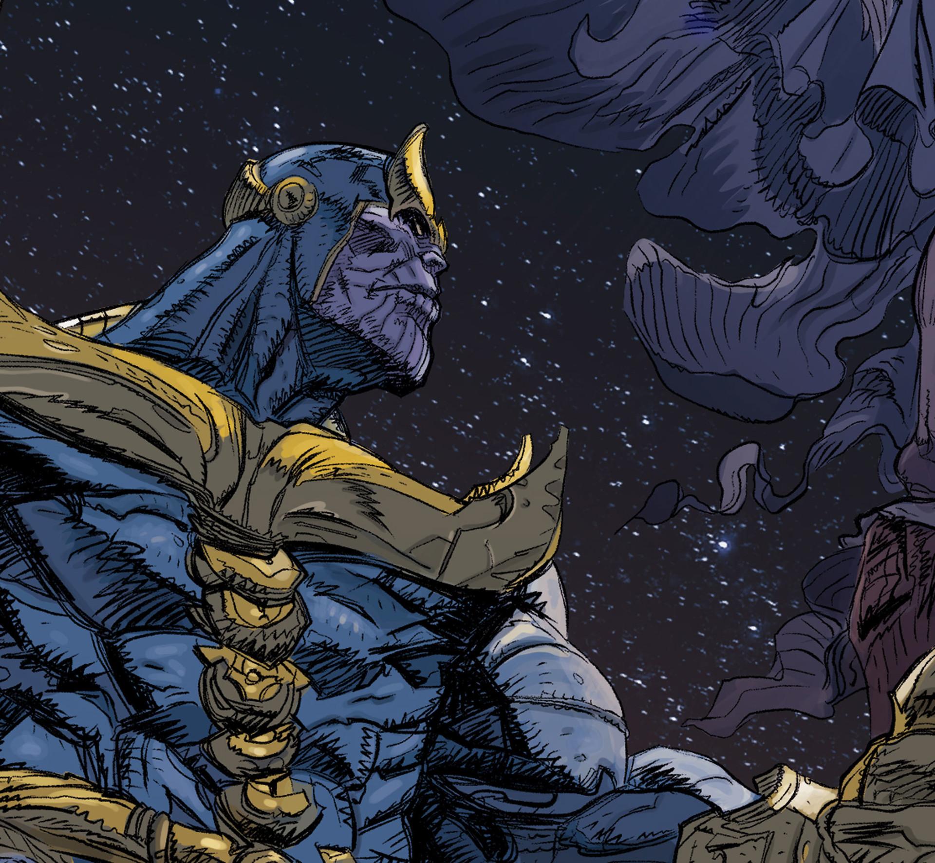 Daniele afferni daniele afferni comic artist thanos avengers infinity war close2
