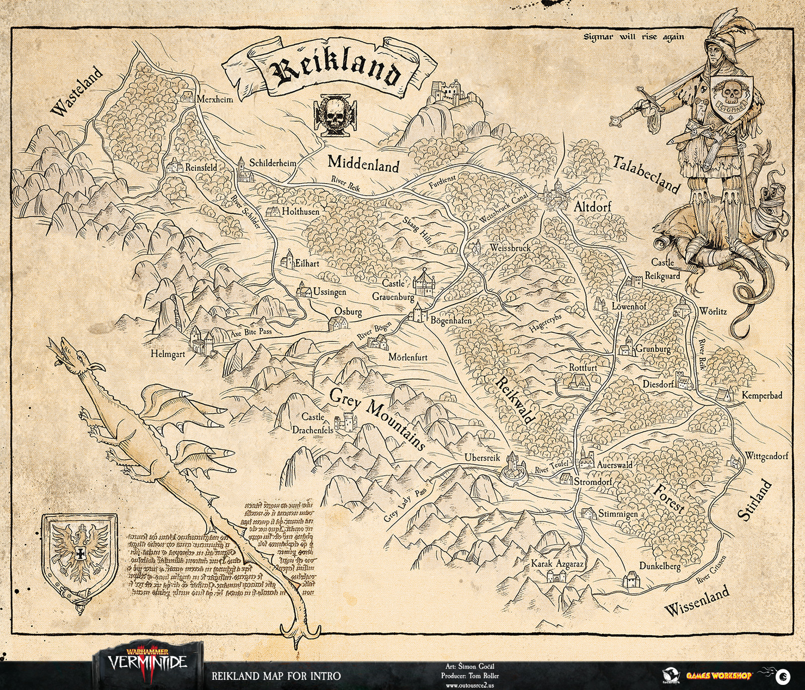 Just like in the times of the medieval cartography, the maps of Warhammer are made from known information but the details are open to each cartographer's interpretation. This is our take.