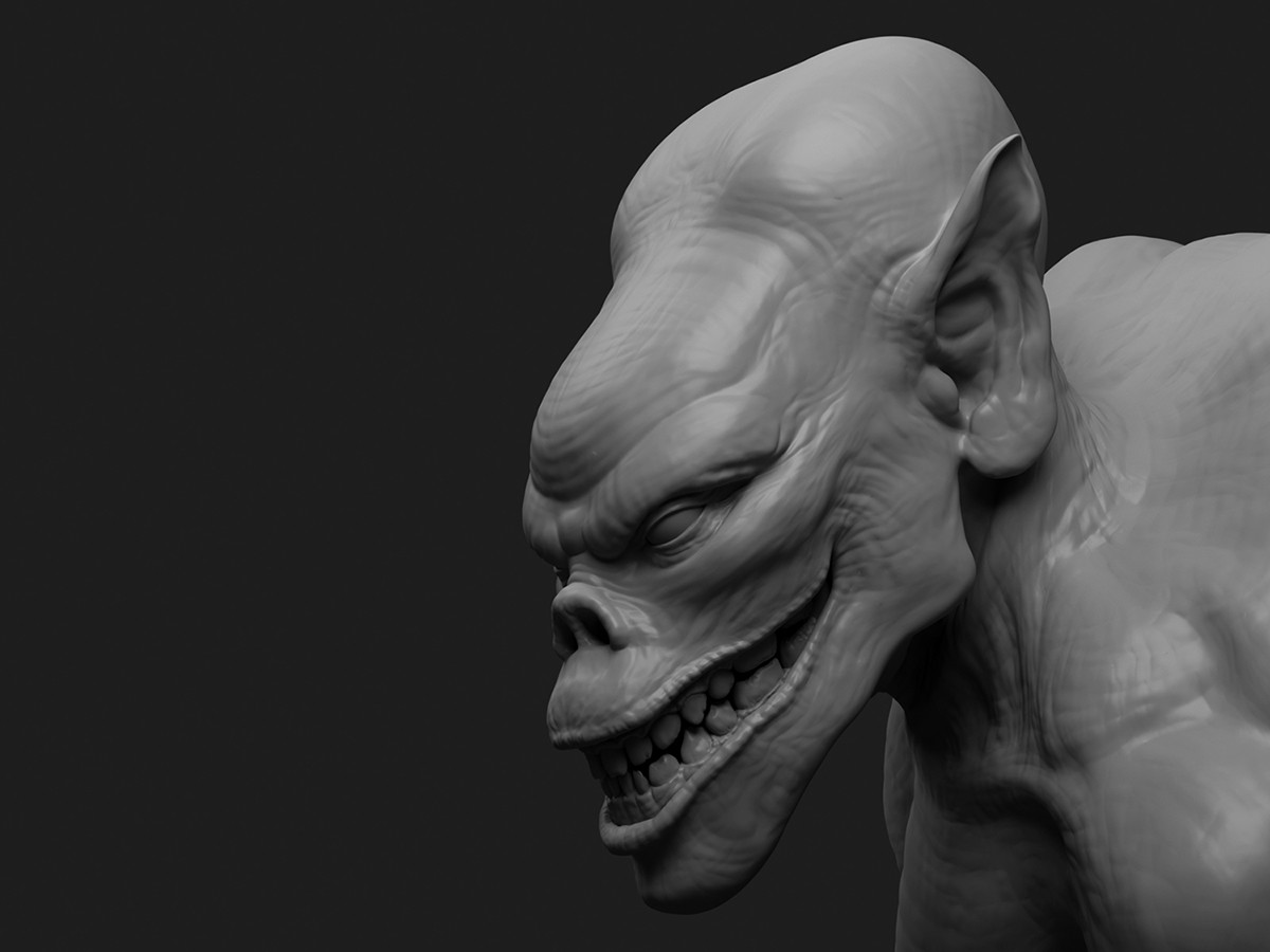 ZBrush Creature rendered in MODO