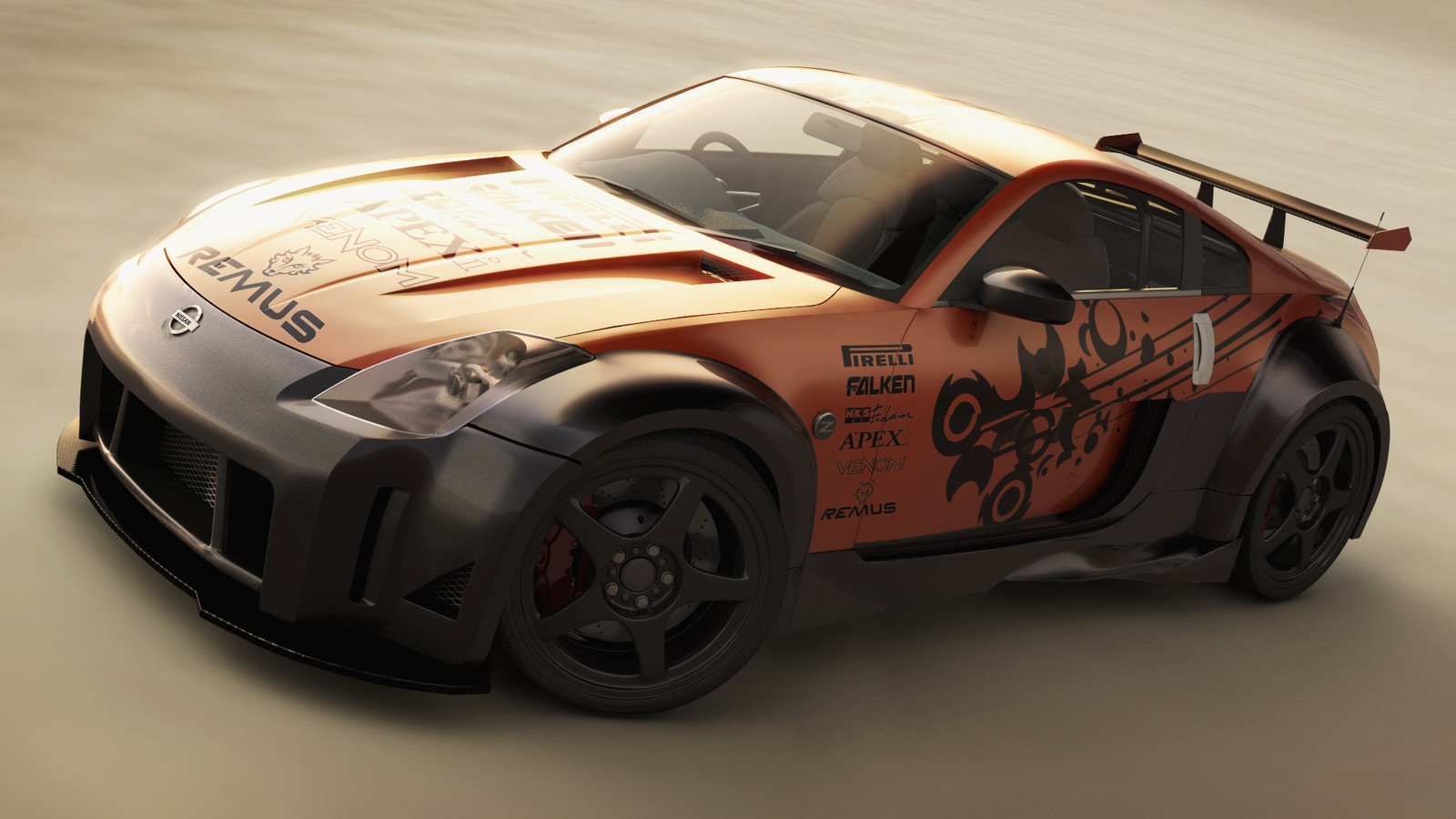 OLD WORK - University, Nissan 350z
