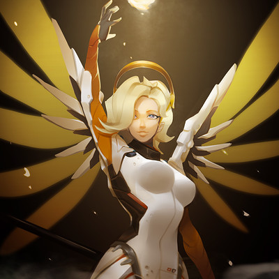 Chow overwatch mercy by chow