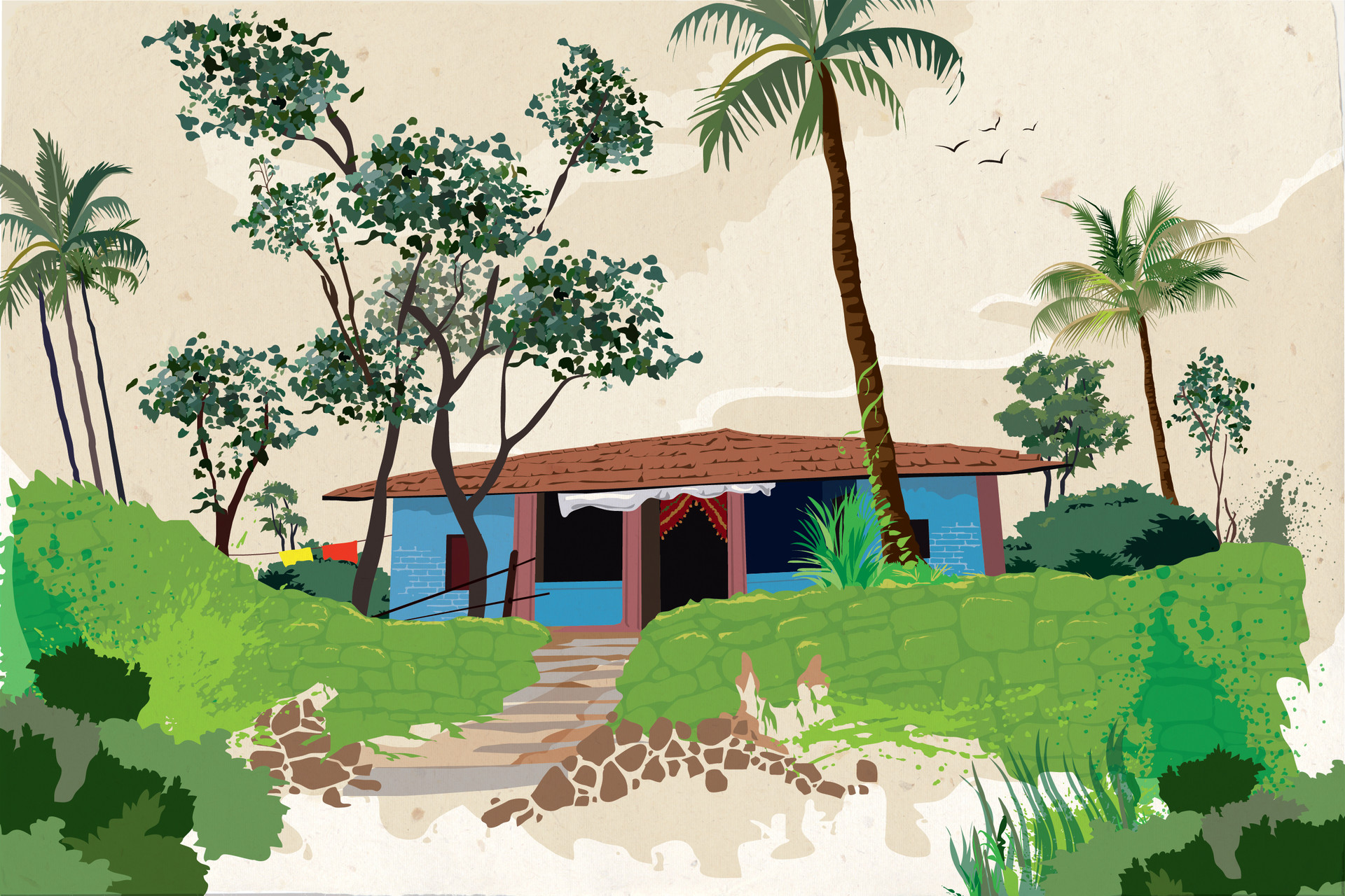 Rajesh r sawant blue house in konkan 01