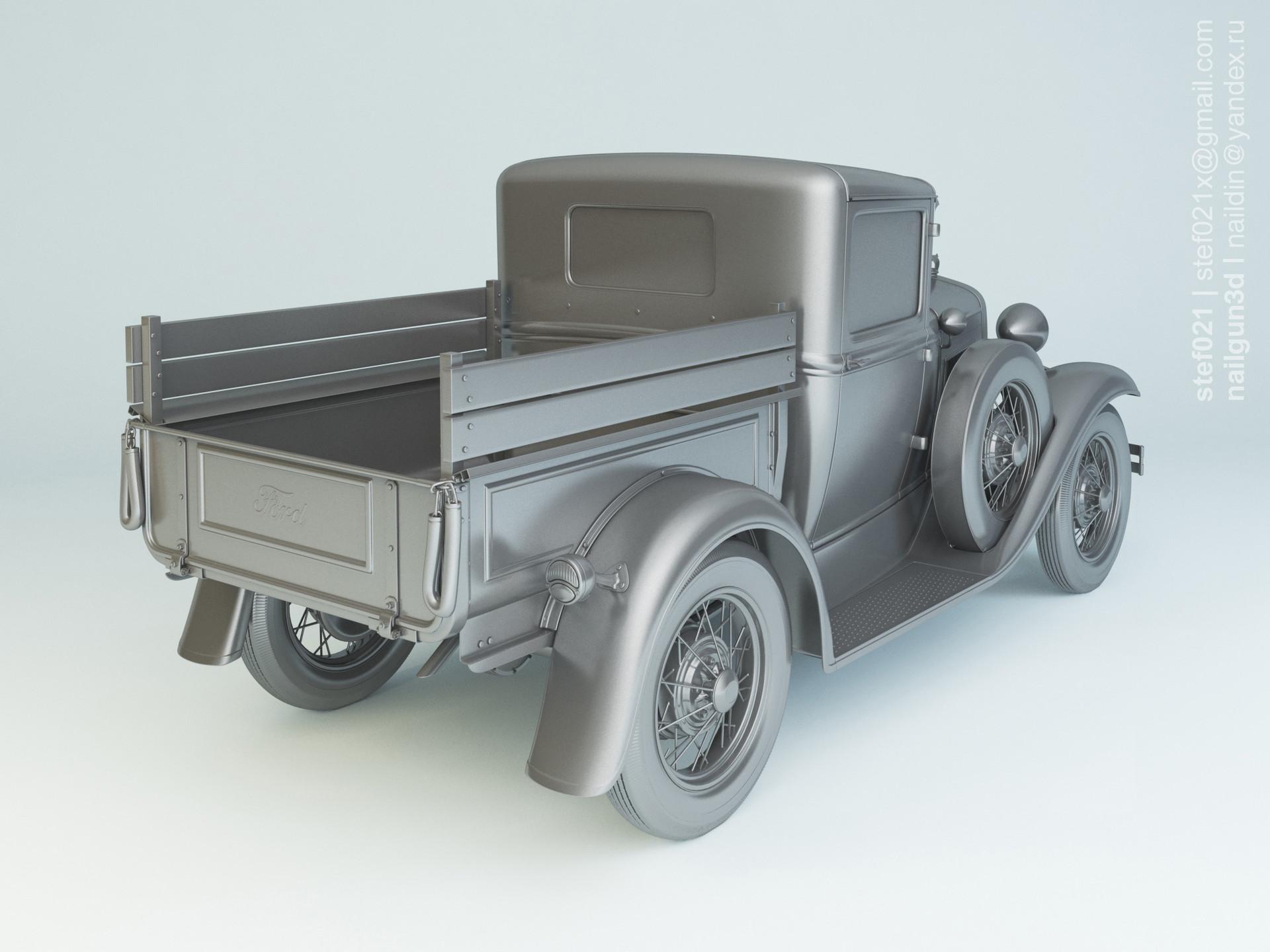 Nail khusnutdinov a0007 ford a pickup 1931 clay 1