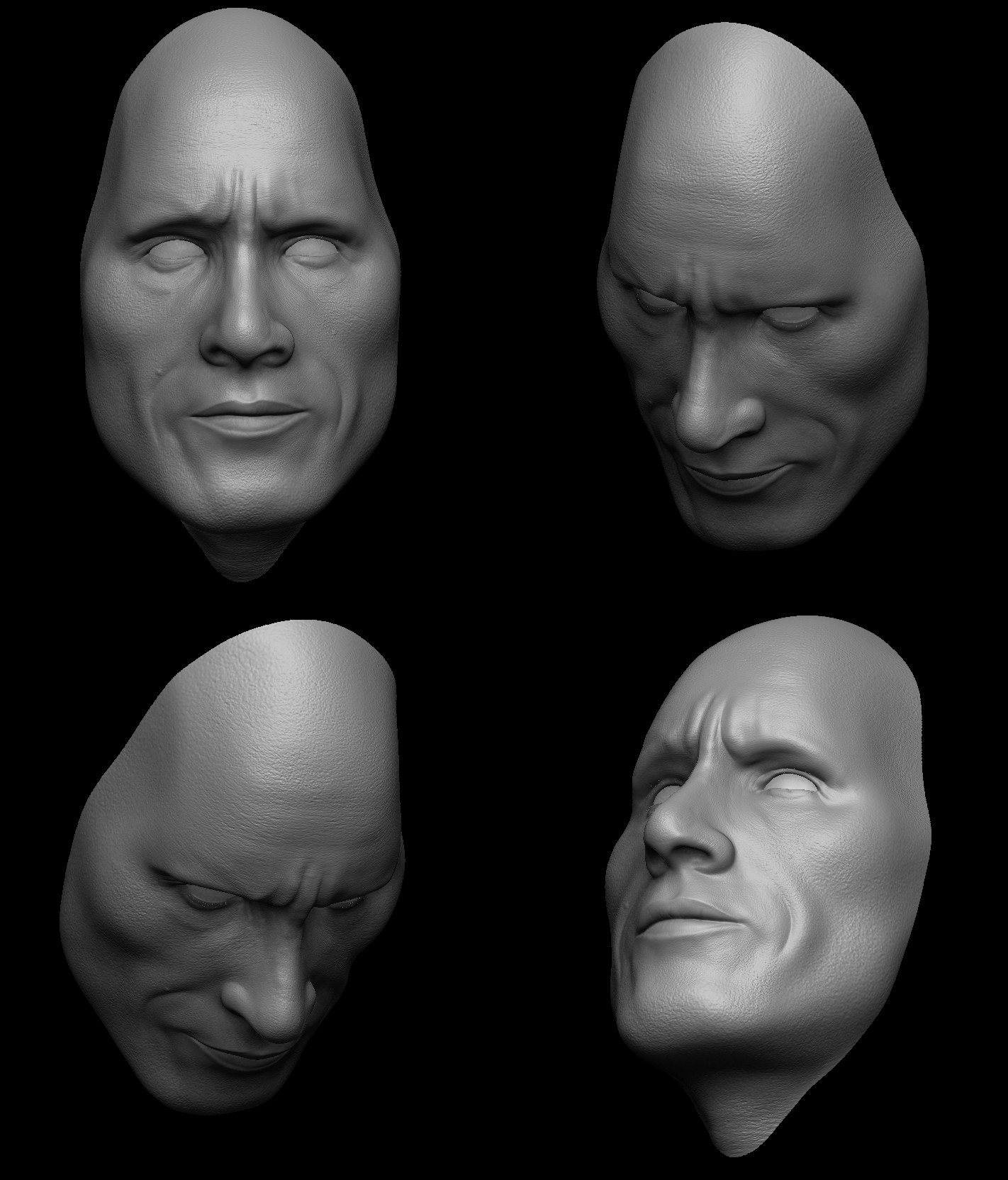 Surajit sen 2 dwayne johnson 3d porttrait sculptsshots by surajit sen