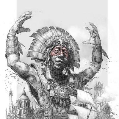 Tomek larek shaman island tomek larek valore sketch