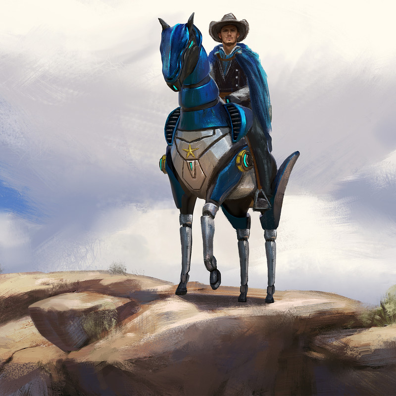 "Art Station Wild West Challenge - Keyframe Concepts 1/4 ""Sheriff"""