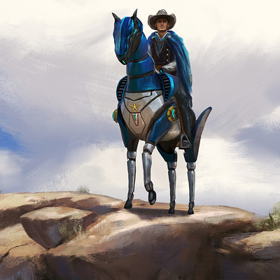 "Art Station Wild West Challenge - Keyframe Concepts 1/4 ""Sheriff"""