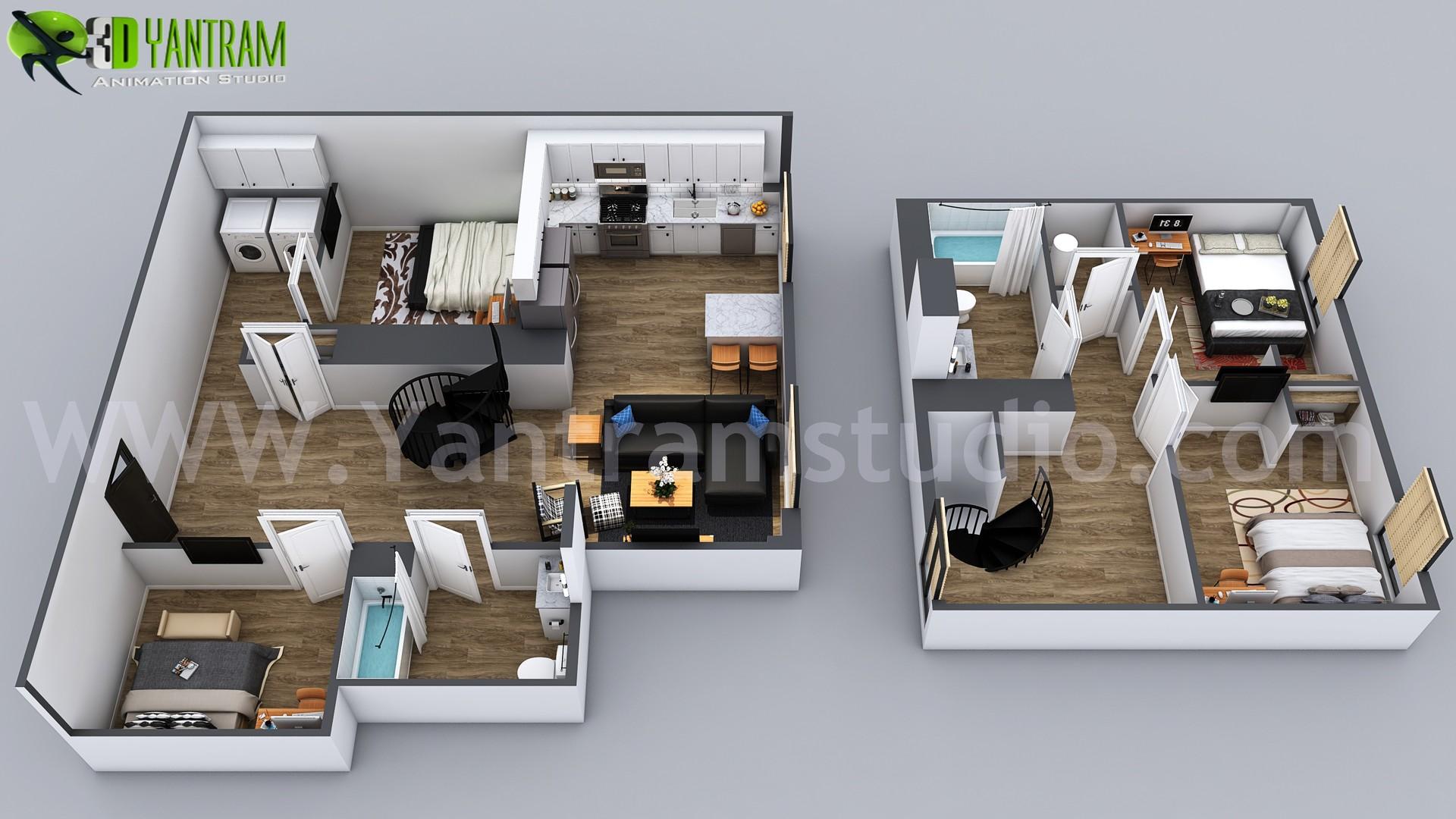 ArtStation - 3D Home Floor Plan Designs By Yantram floor plan ...