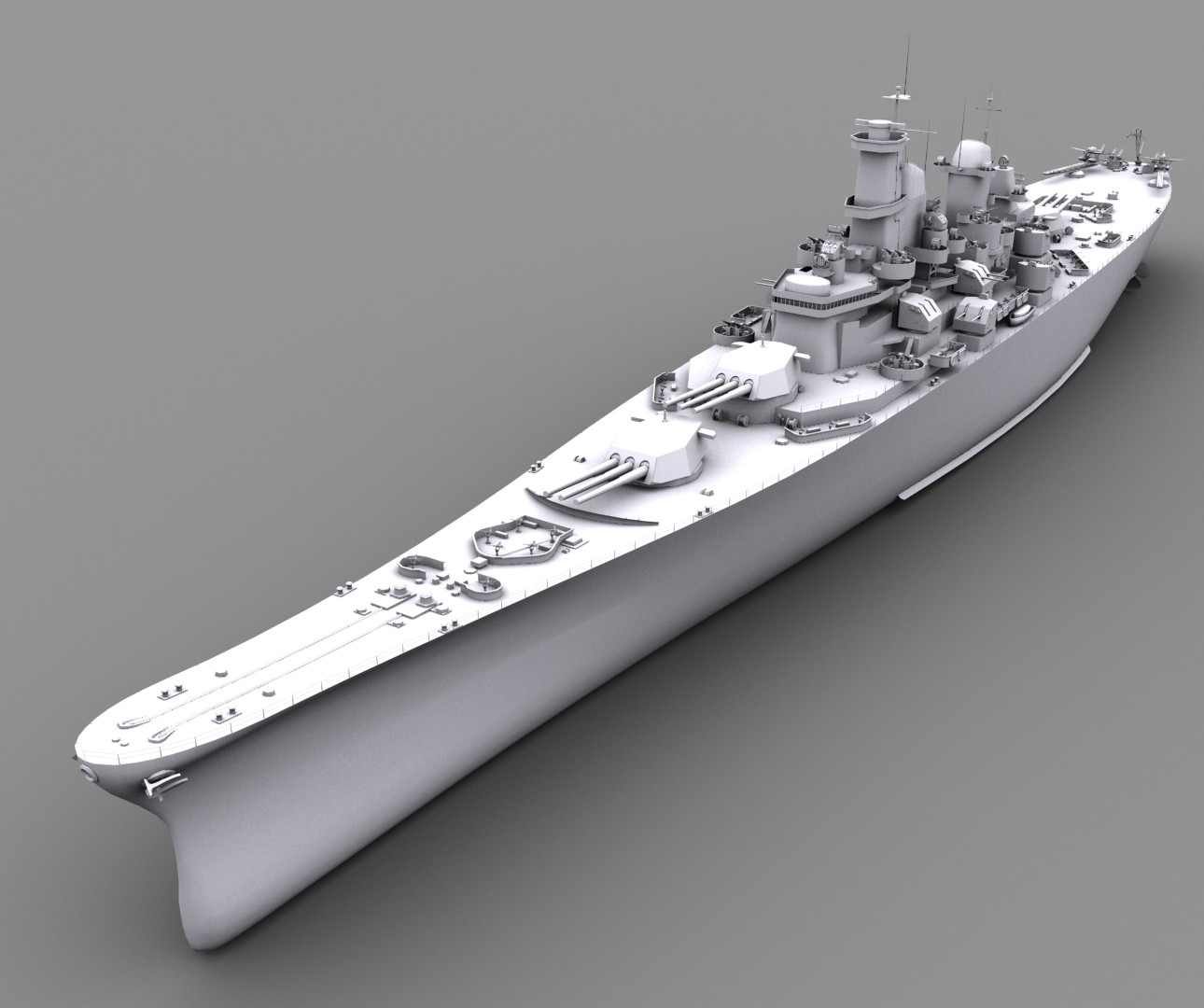 ArtStation - USS Iowa (BB-61), Barbu Gabriel