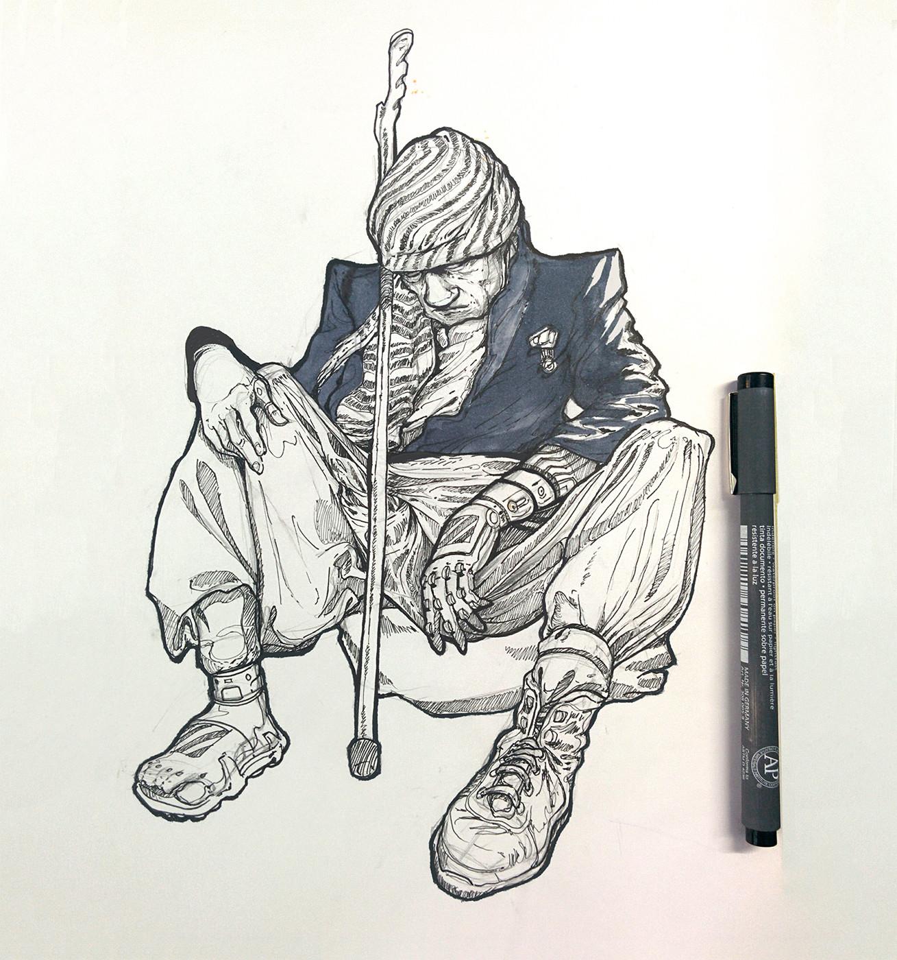 Fall of a Bionic beggar