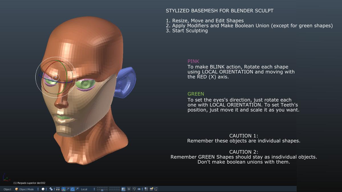 Free Stylized Basemesh for Blender Sculpting - Download Free