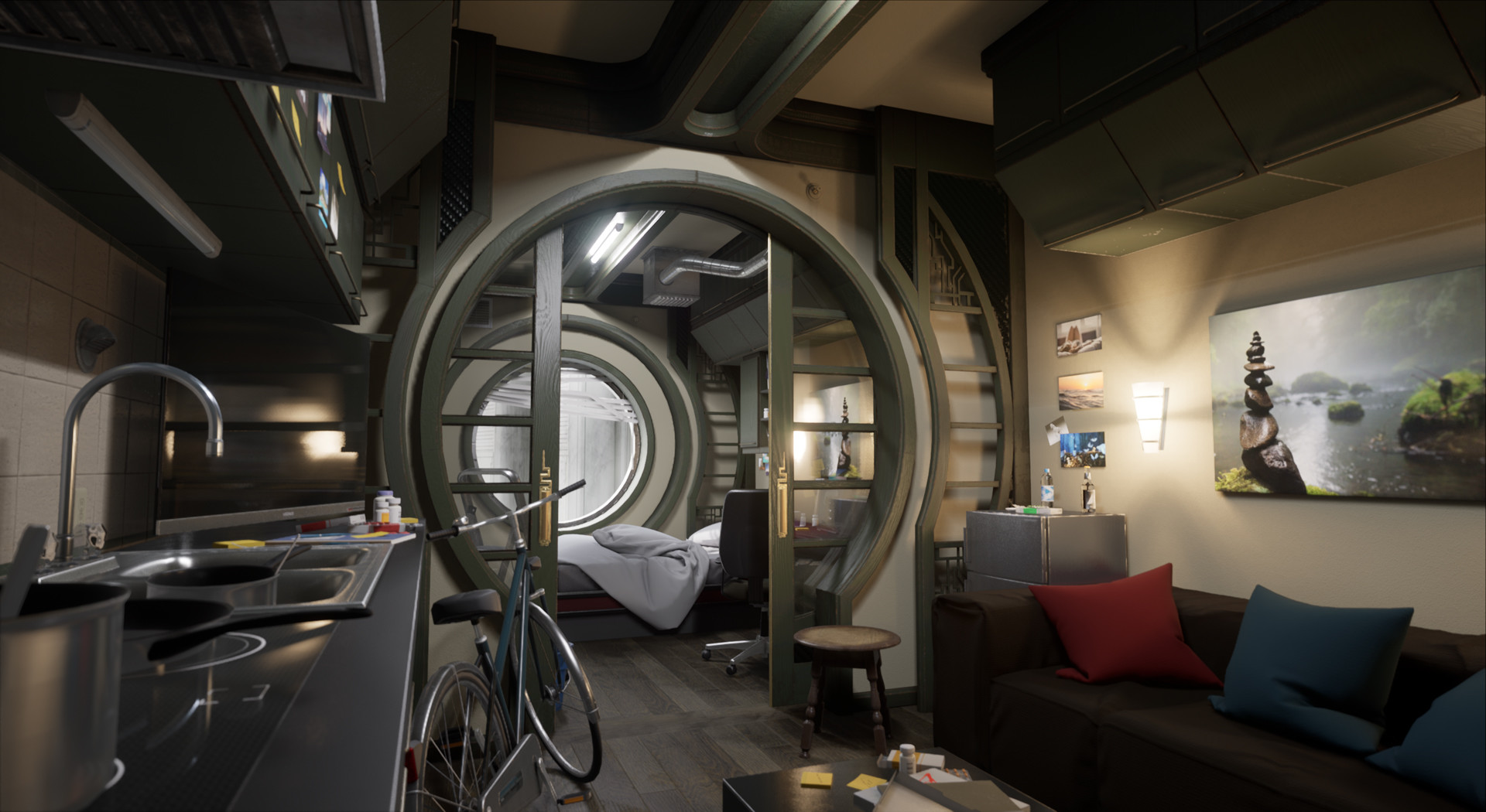 Sci Fi Apartment Concept Art