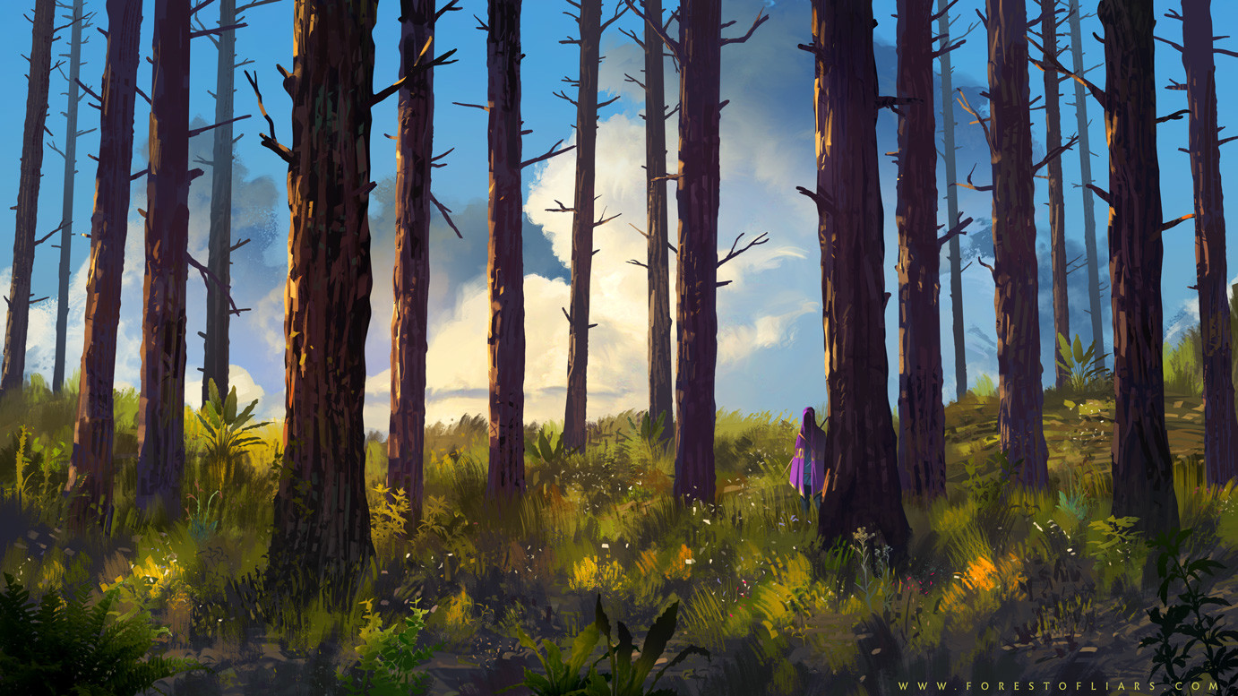Forest of Liars : the smell of bark.