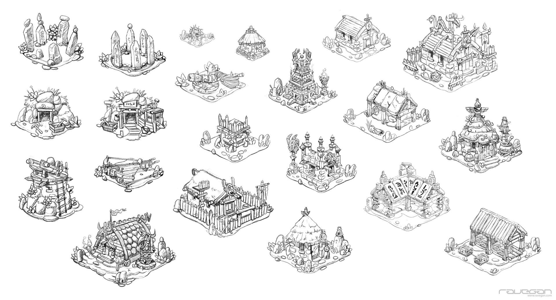 Ravegan games ravegan vikings buildings