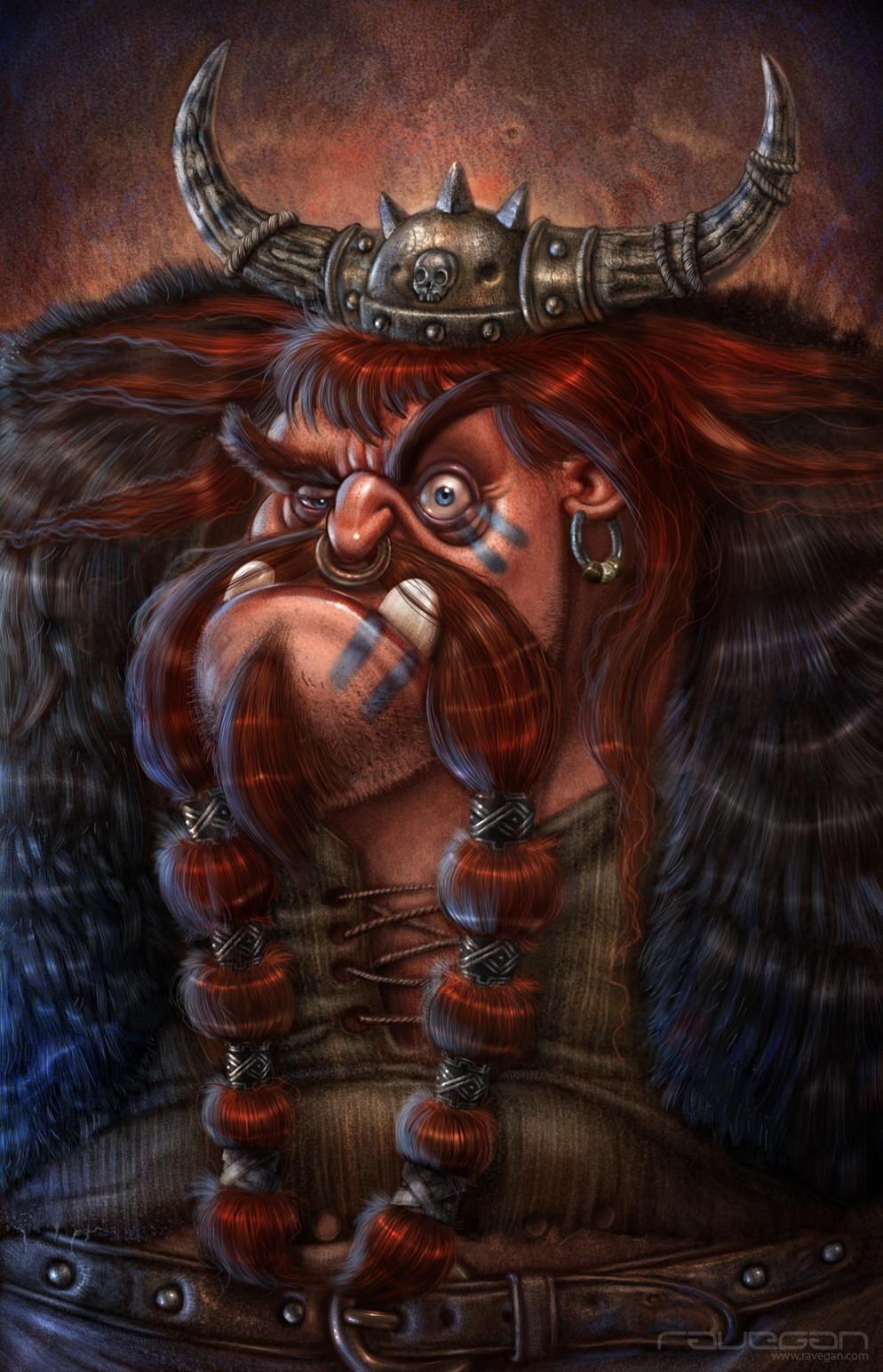 Ravegan games ravegan vikings illustration