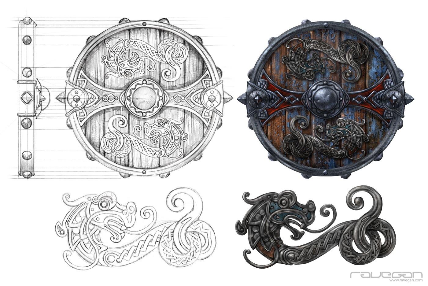 Ravegan games ravegan vikings shield