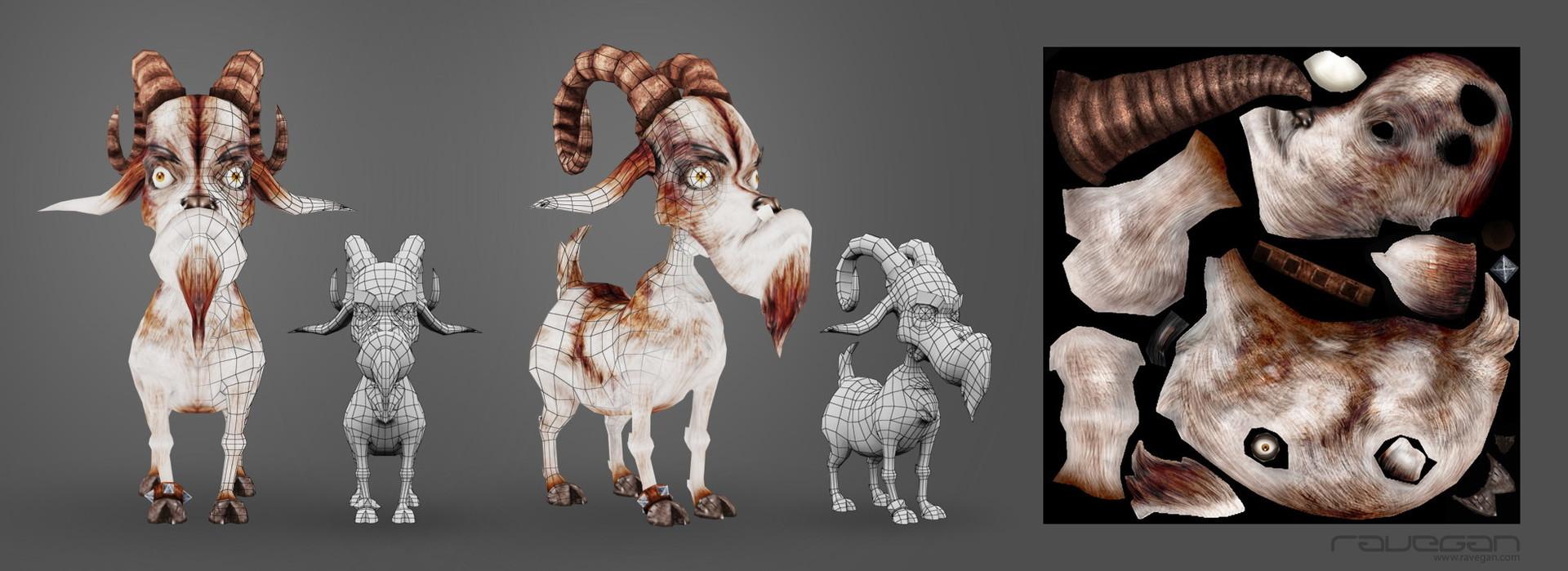 Ravegan games viking 09 goat lowpoly