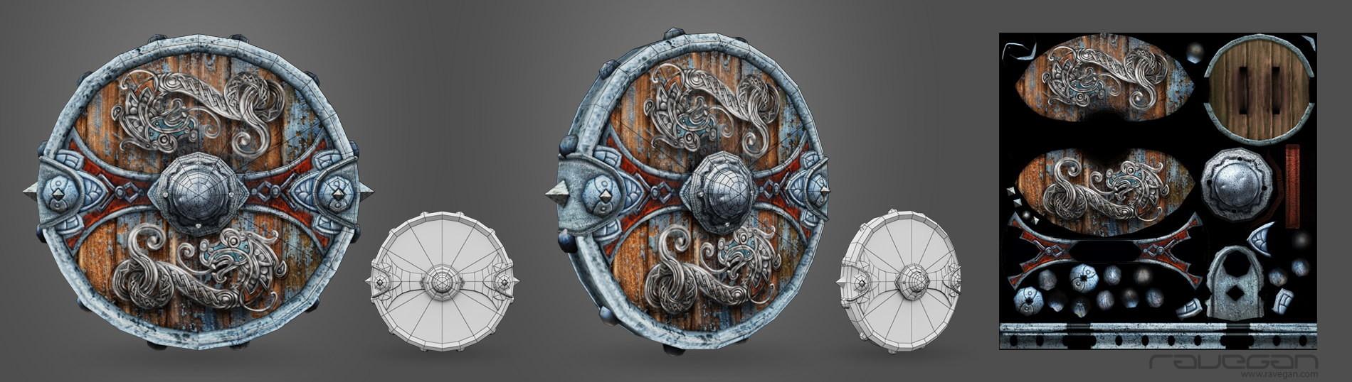Ravegan games viking 10 shield lowpoly