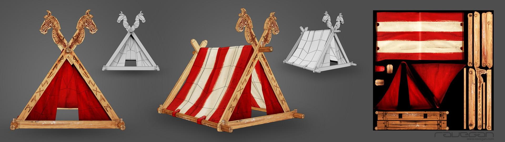 Ravegan games viking 12 tent lowpoly