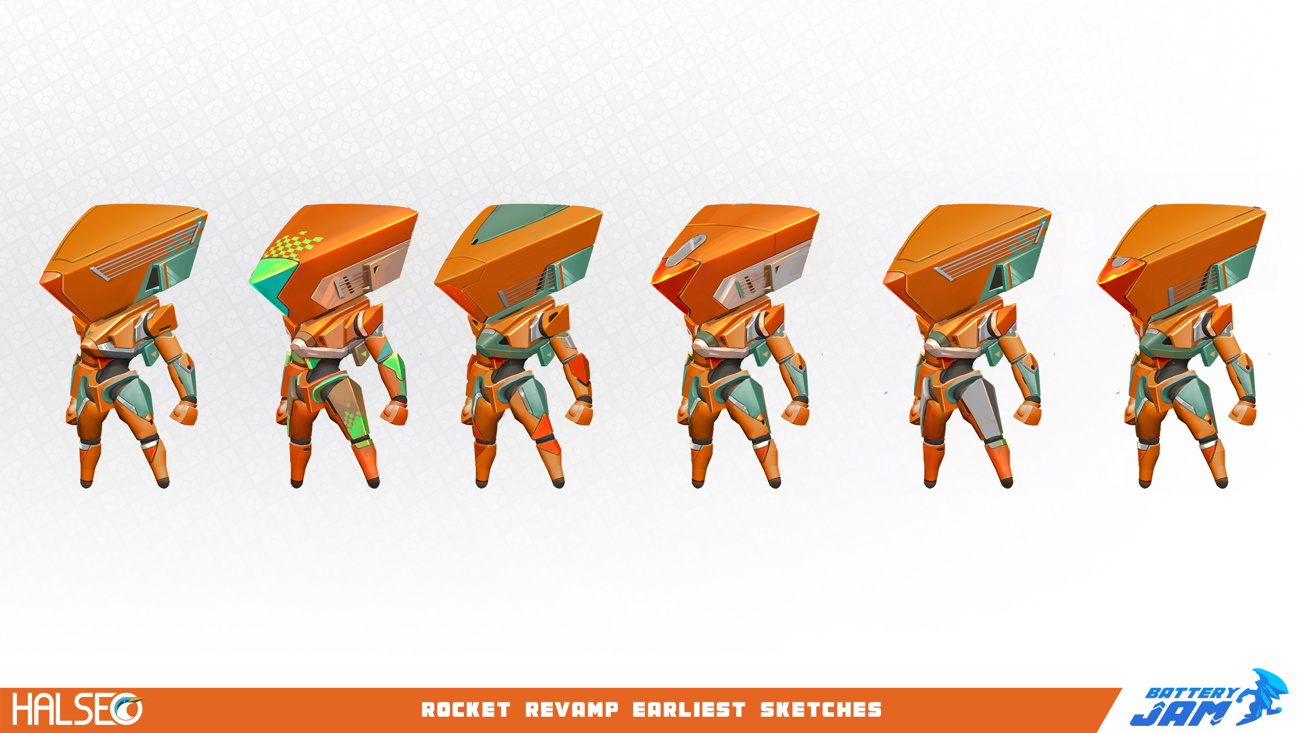 I actually really like the original Rocket designs, but we felt he might look too dangerous.