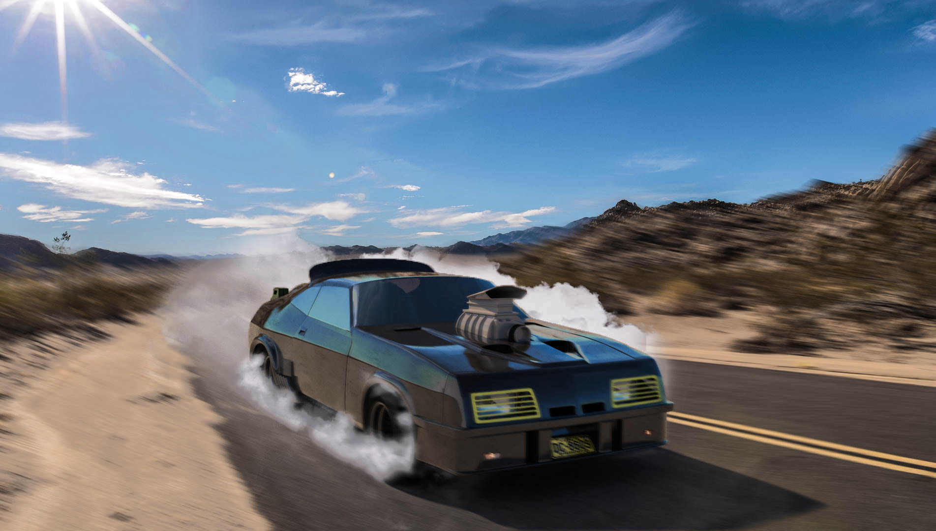 Ford falcon v8 interceptor, Mad Max car. Dimitry tkachev max final3