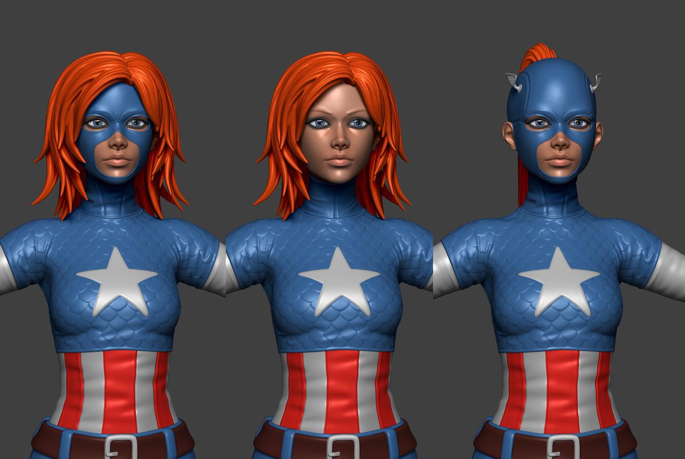 captain america model cgtrader
