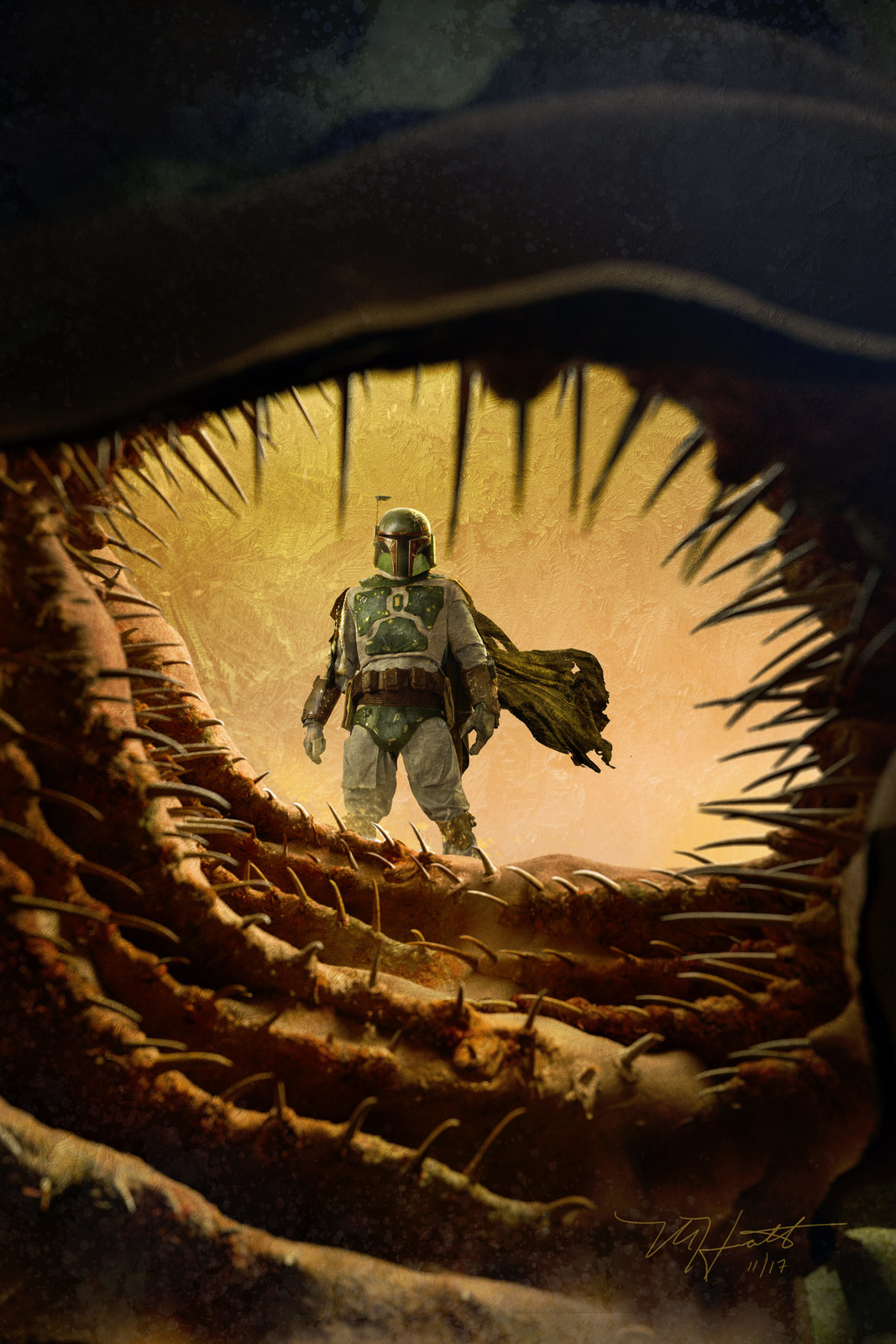 Bobafett Escapes the Sarlacc