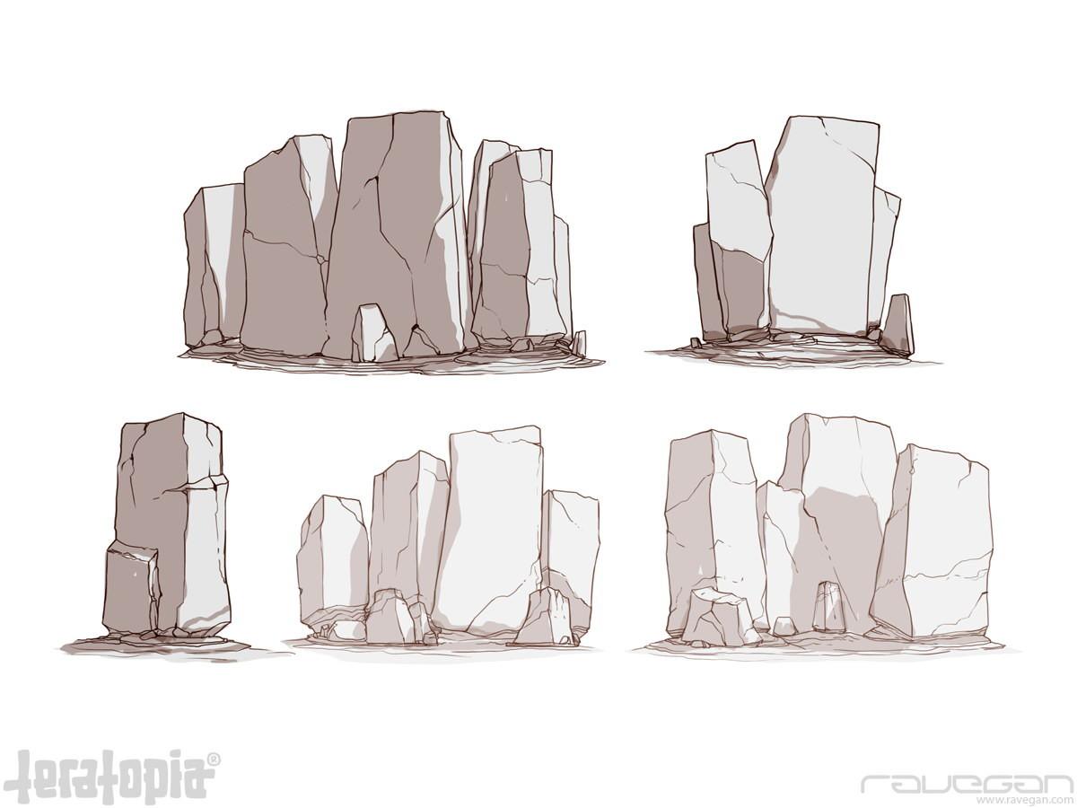 Ravegan games teratopia concept rocks 1