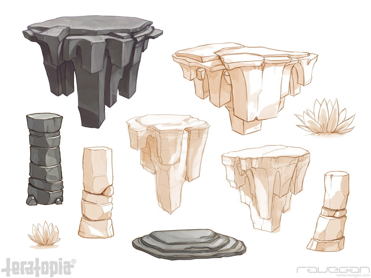 Ravegan games teratopia concept rocks 3