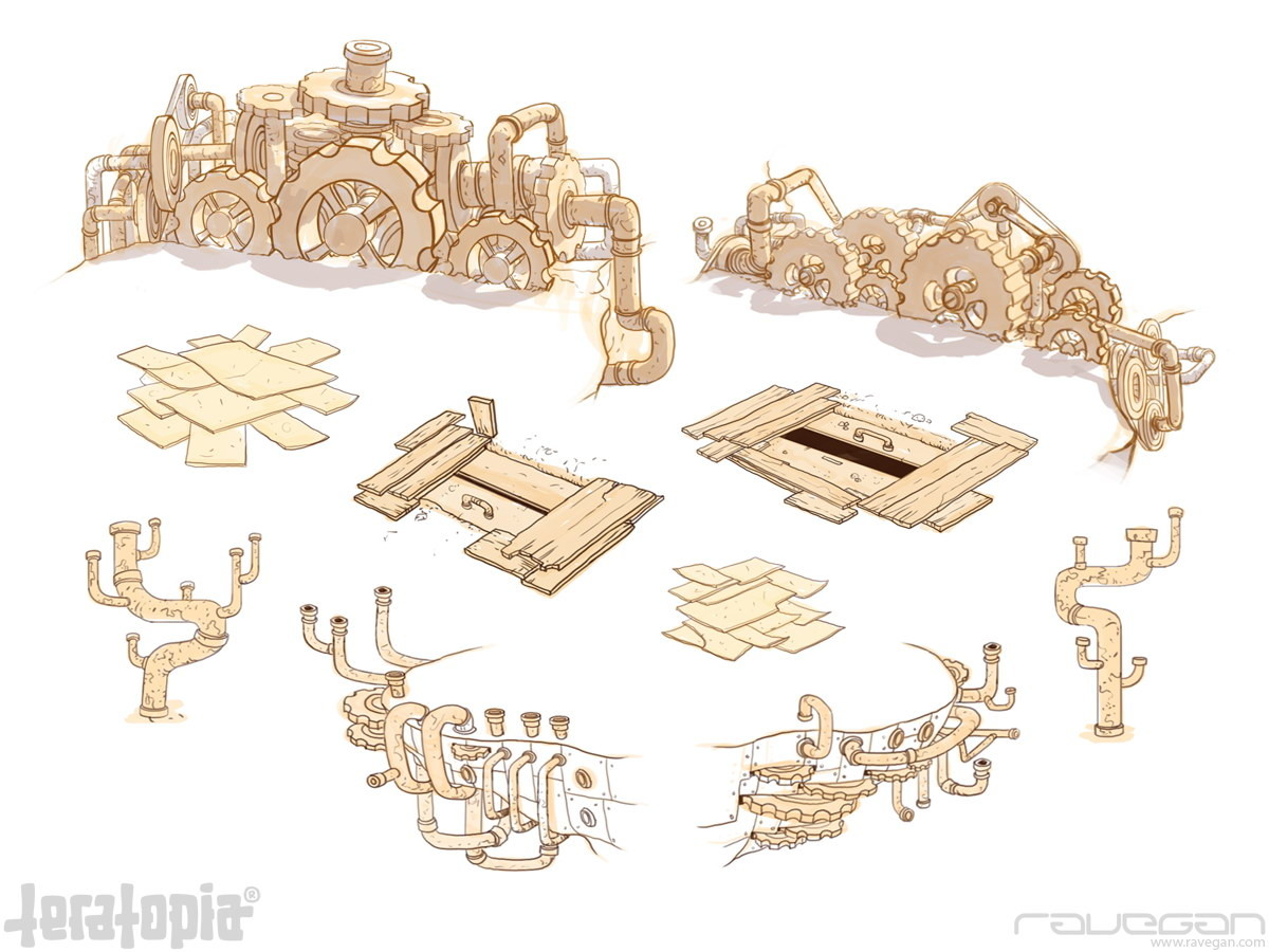 Ravegan games teratopia concept steampunk