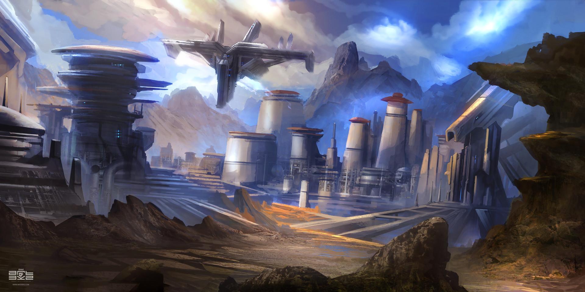 Environment Concept Art Sci Fi